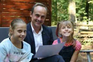Alexander mit Emma und Hannah